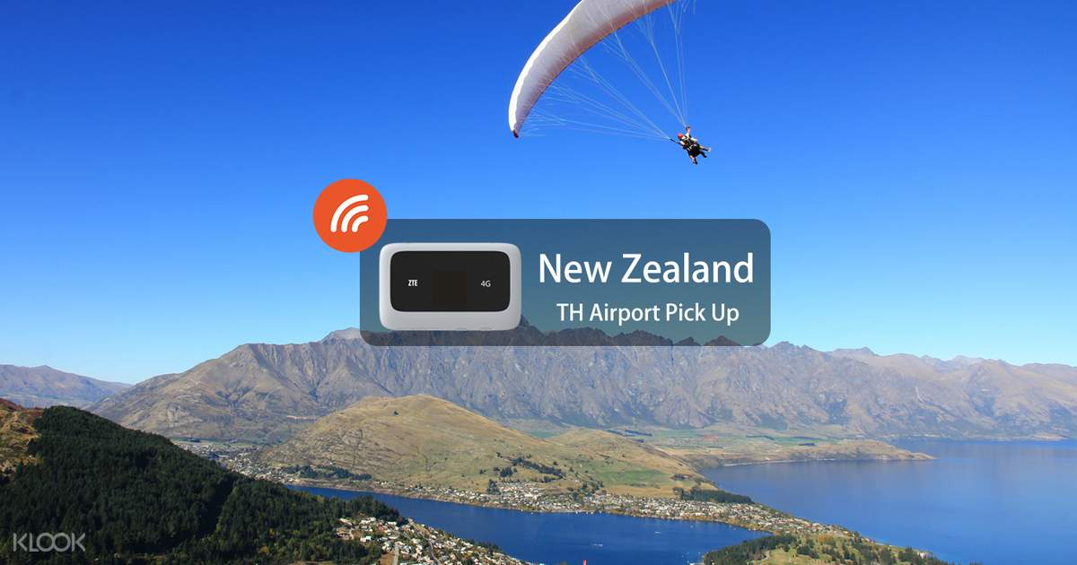 4G WiFi (TH Airport Pick Up) for New Zealand - Klook
